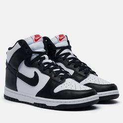 Кроссовки Nike Wmns Dunk High Panda White/Black/University Red