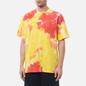 Мужская футболка Nike Premium Essential Tie-Dye White/Yellow Strike/Total Orange/White фото - 2