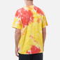 Мужская футболка Nike Premium Essential Tie-Dye White/Yellow Strike/Total Orange/White фото - 3