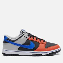 Мужские кроссовки Nike x NBA Dunk Low Retro Embroidered Black/Racer Blue/Grey Fog/Orange