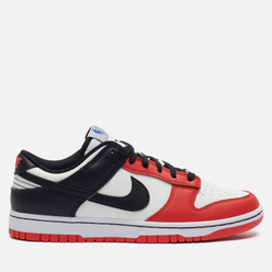 Мужские кроссовки Nike x NBA Dunk Low Retro Embroidered Sail/Black/Black/Chile Red