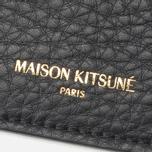 Держатель для карточек Maison Kitsune Leahter Black фото- 2