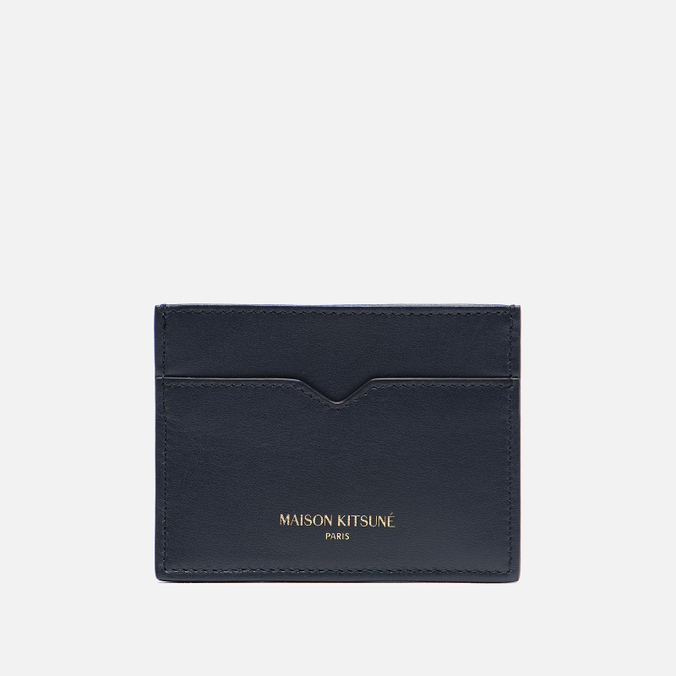 Держатель для карточек Maison Kitsune Leather Dark Navy