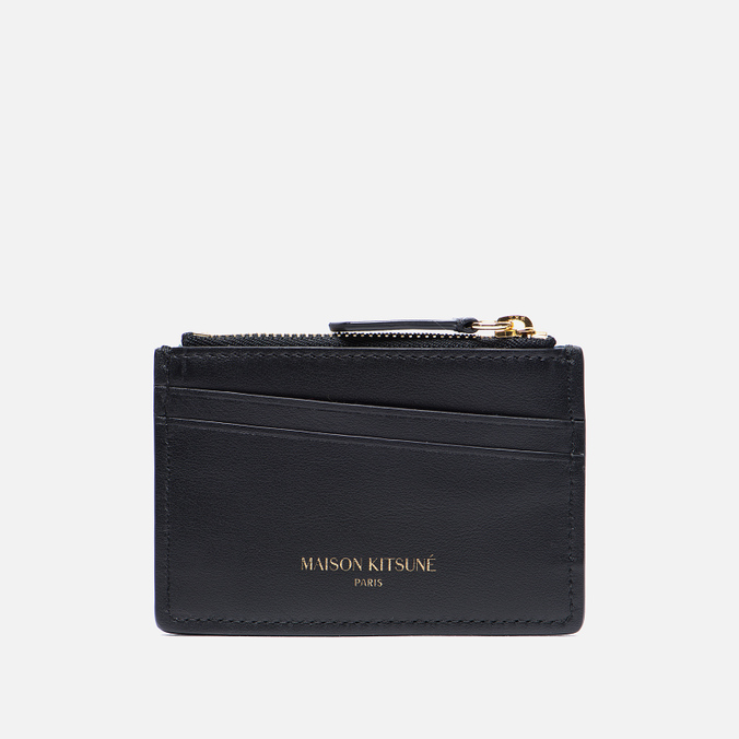 Держатель для карточек Maison Kitsune Tricolor Zipped Leather Black