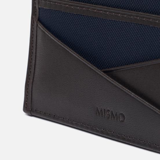 Держатель для карточек Mismo M/S Cardholder Navy/Dark Brown