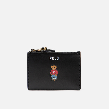 Держатель для карточек Polo Ralph Lauren Bear Embroidered Nappa Zip Black