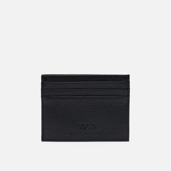 Держатель для карточек Polo Ralph Lauren Debossed Logo Multi Card Case Smooth Leather Black