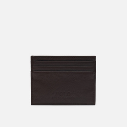 Держатель для карточек Polo Ralph Lauren Debossed Logo Multi Card Case Smooth Leather Brown