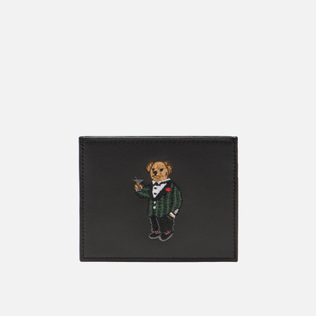 Держатель для карточек Polo Ralph Lauren Tartan Bear Smooth Leather Black