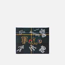 Держатель для карточек Polo Ralph Lauren Tartan Textured Smooth Leather Green фото- 0