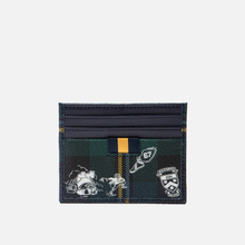 Держатель для карточек Polo Ralph Lauren Tartan Textured Smooth Leather Green фото- 2