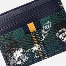 Держатель для карточек Polo Ralph Lauren Tartan Textured Smooth Leather Green фото- 3