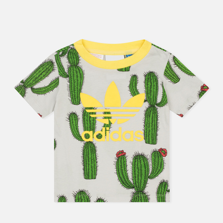 Детская футболка adidas Originals x Mini Rodini Allover Cactus Print Multicolor/Fresh Lemon