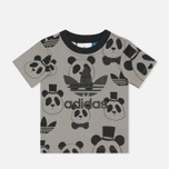 Детская футболка adidas Originals x Mini Rodini Panda Grey Rock/Black фото- 0