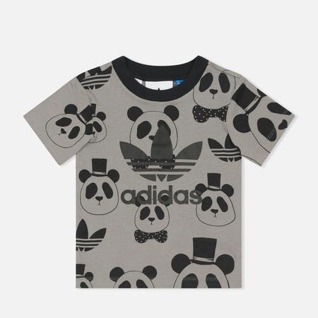 Детская футболка adidas Originals x Mini Rodini Panda Grey Rock/Black
