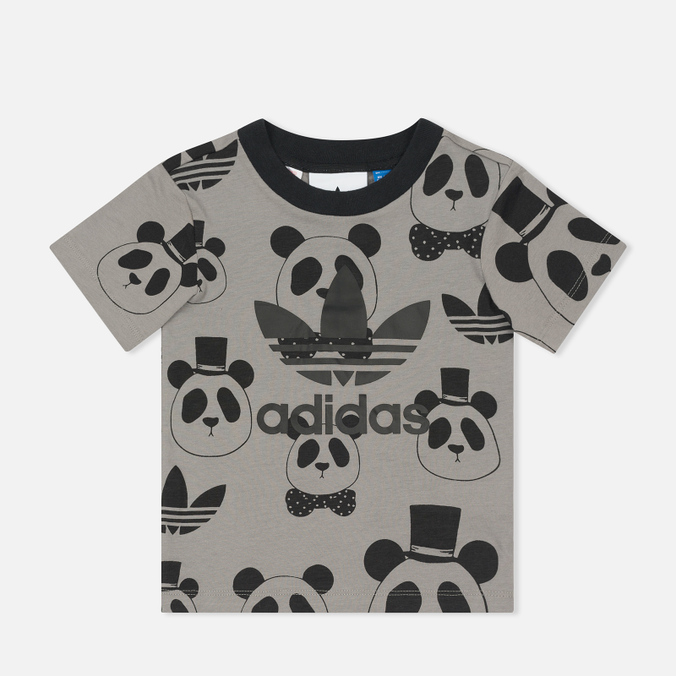 Детская футболка adidas Originals x Mini Rodini Panda Grey Rock/Black