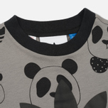 Детская футболка adidas Originals x Mini Rodini Panda Grey Rock/Black фото- 1