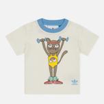 Детская футболка adidas Originals x Mini Rodini Print Off White/Bahia Light Blue фото- 0