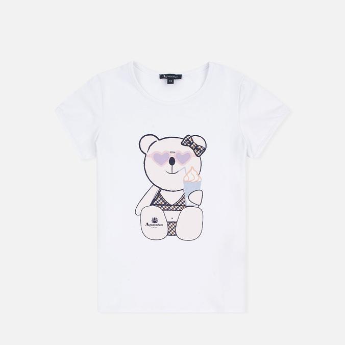 Детская футболка Aquascutum Teddy White
