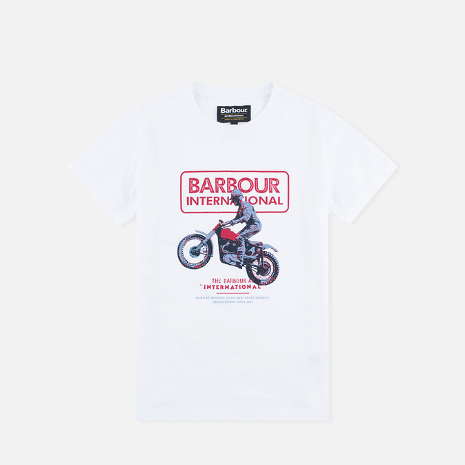 Детская футболка Barbour International Motor White