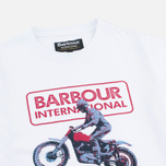Детская футболка Barbour International Motor White фото- 1