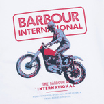 Детская футболка Barbour International Motor White фото- 3