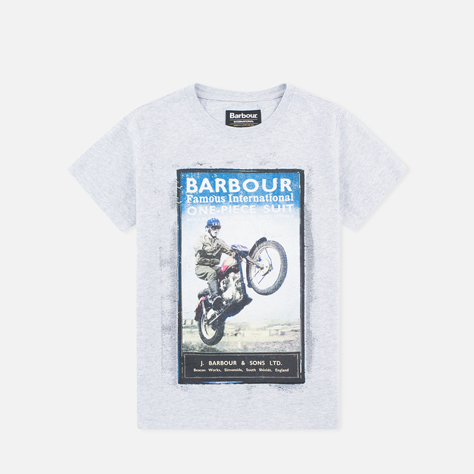 Детская футболка Barbour International One Piece Grey Marl