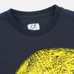 Детская футболка C.P. Company U16 Short Sleeve Hood Print Dark Navy фото- 1
