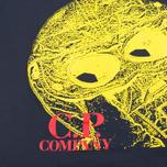 Детская футболка C.P. Company U16 Short Sleeve Hood Print Dark Navy фото- 2