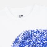 Детская футболка C.P. Company U16 Short Sleeve Hood Print White фото- 1