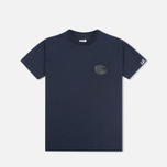 Детская футболка C.P. Company U16 Short Sleeve Pocket Dark Navy фото- 0