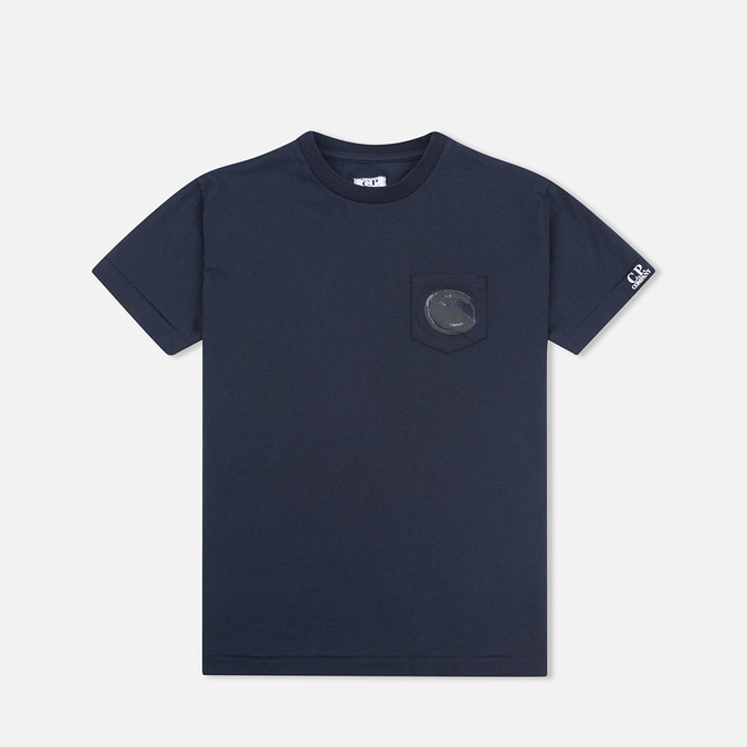 Детская футболка C.P. Company U16 Short Sleeve Pocket Dark Navy
