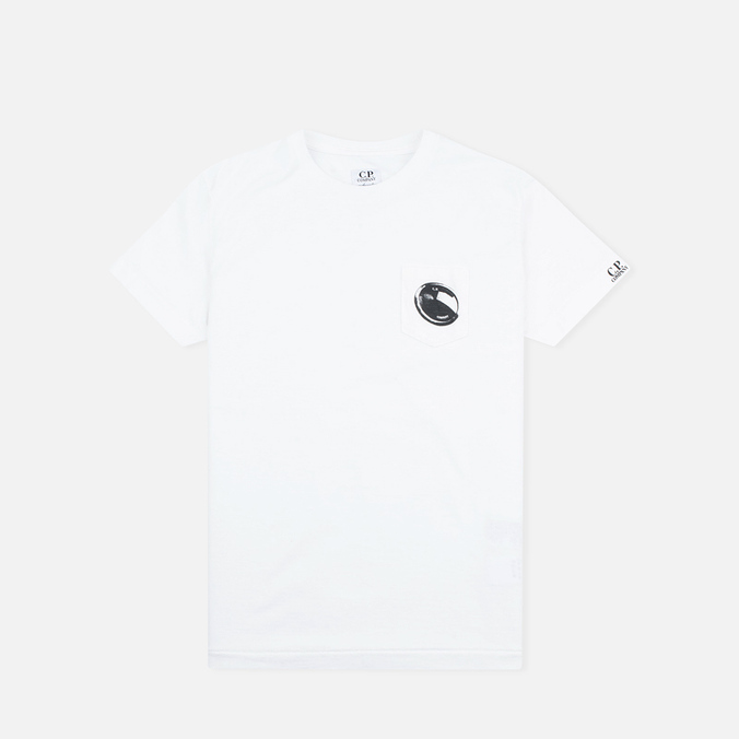 Детская футболка C.P. Company U16 Short Sleeve Pocket White