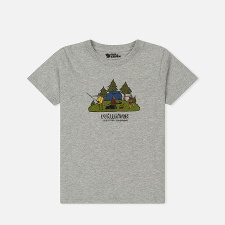 Детская футболка Fjallraven Kids Camping Foxes Grey