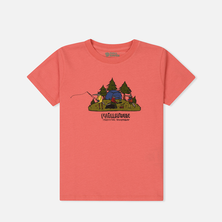 Детская футболка Fjallraven Kids Camping Foxes Peach Pink