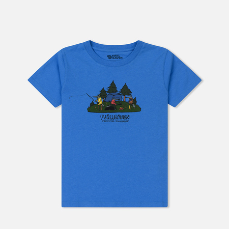 Детская футболка Fjallraven Kids Camping Foxes UN Blue