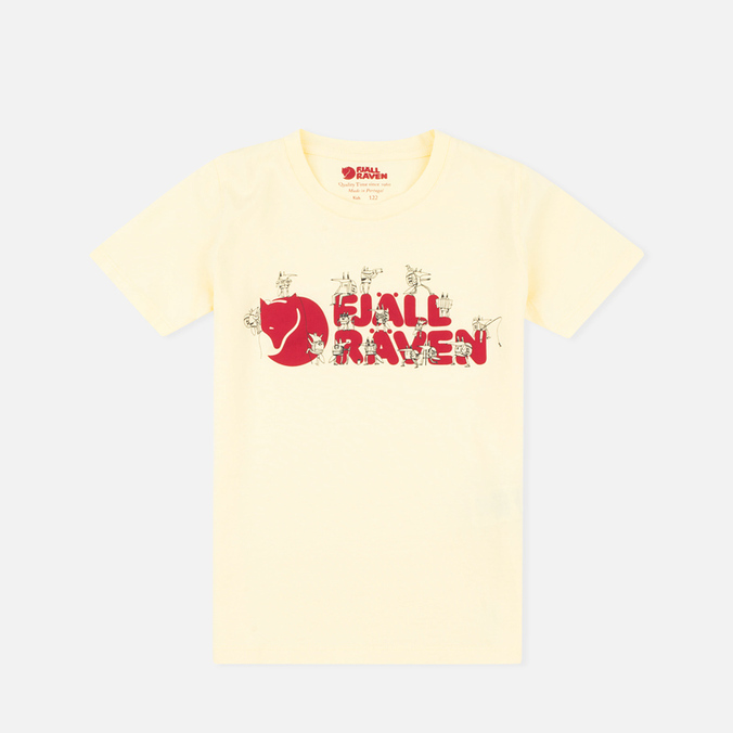 Детская футболка Fjallraven Trek Logo Pale Yellow