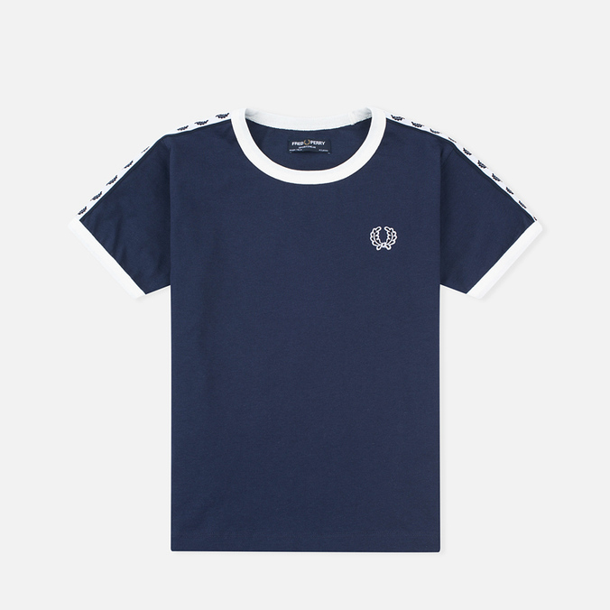 Детская футболка Fred Perry Taped Ringer Carbon Blue