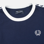 Детская футболка Fred Perry Taped Ringer Carbon Blue фото- 1