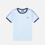 Fred Perry Taped Ringer Children's T-shirt Sky Blue photo- 0