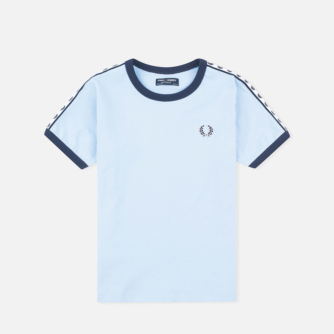 Fred Perry Taped Ringer Children's T-shirt Sky Blue