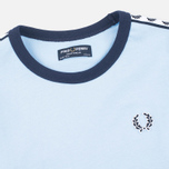 Fred Perry Taped Ringer Children's T-shirt Sky Blue photo- 1