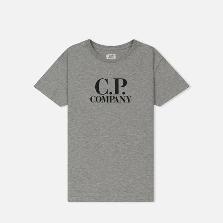 Детская футболка C.P. Company U16 Logo Goggle Hood Back Print Grey Melange