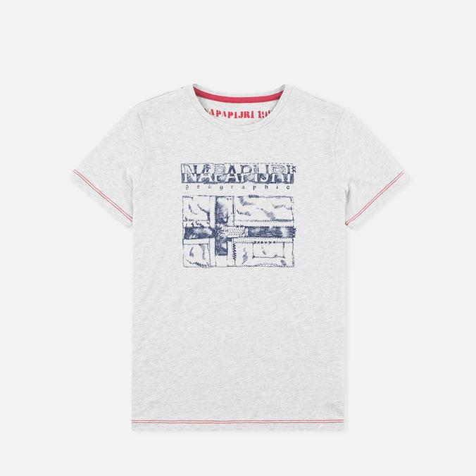 Napapijri K Savinci Children's t-shirt Light Grey