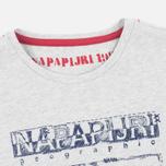 Детская футболка Napapijri K Savinci Light Grey фото- 1