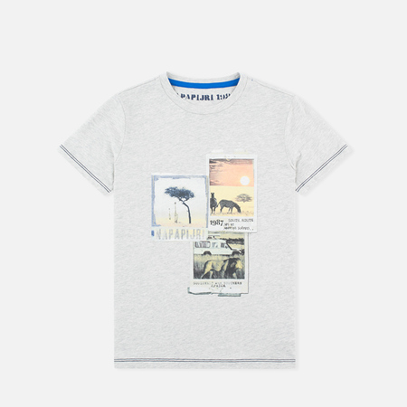Napapijri K Spill Children's t-shirt Light Grey