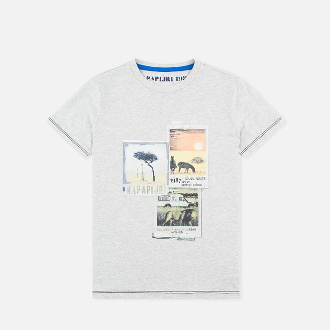 Детская футболка Napapijri K Spill Light Grey