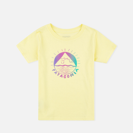 Patagonia Graphic Cotton Children's T-shirt Lite Blazing Yellow