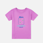 Patagonia Graphic Cotton Children's T-shirt Mock Purple photo- 0