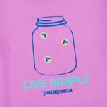 Patagonia Graphic Cotton Children's T-shirt Mock Purple photo- 2